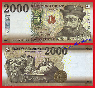 HUNGRIA HUNGARY 2000 forint 2016 (2017) Pick NEW  SC / UNC