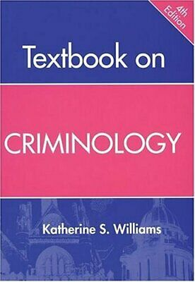 Textbook on Criminology, 4th Ed. by Williams, Katherine Paperback Book The Cheap