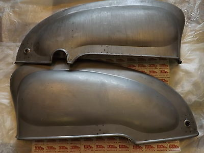 Lambretta Series 1 & 2 Side Panels, Quality Reproduction Bare Metal, Pair