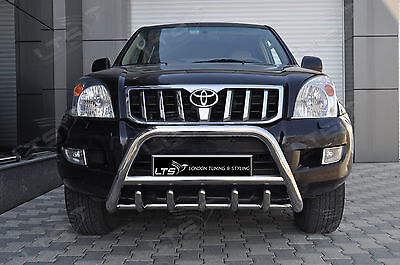 Toyota Land Cruiser Prado Axle Nudge A-Bar, Stainless Steel Bull Bar 2002-2009