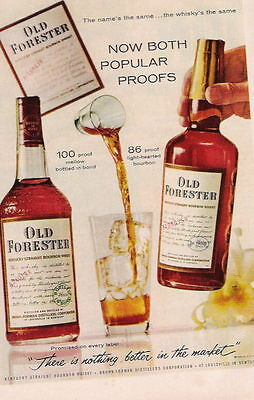 1960 Now Both Popular Proofs Old Forester Whiskey Ad