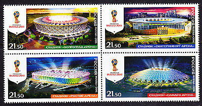 Russia 2016 FIFA Soccer World Cup 2018 Stadiums MNH