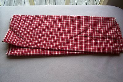 Vtg  Early 1900's Cotton fabric For Quilt   Antique Doll Dress APPLE RED