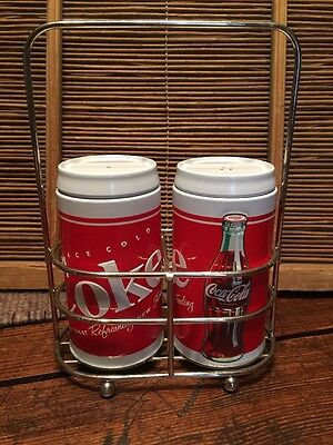 Vintage? Tin Coca-Cola Salt And Pepper Shakers With Carrier