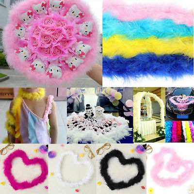 78 inch Feather Boa Fluffy Craft Costume Wedding Party Dressup Home Flower Decor