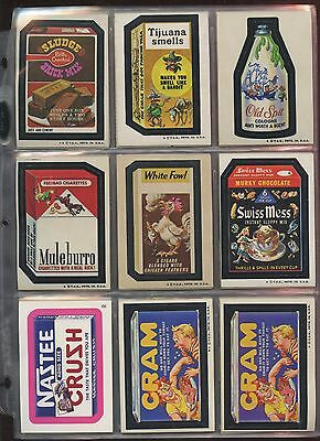 1973 Topps Wacky Packages Series 5 Complete Set (34) EX/NRMT