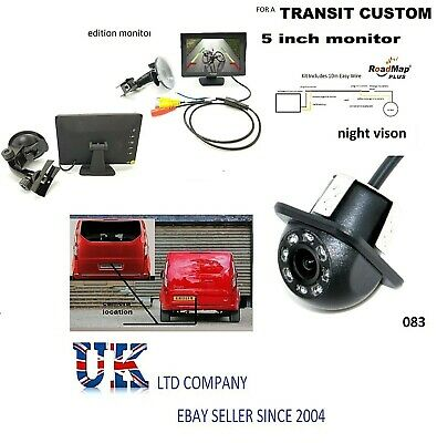 ford transit custom Rear Reversing camera 5 inch Monitor parking