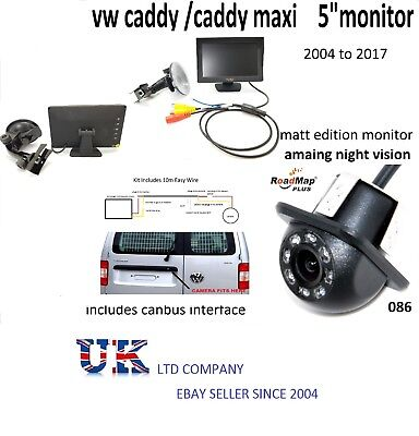 vw caddy caddy maxi Rear reversing camera kit number plate 086