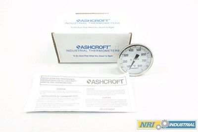 New Ashcroft 30Ei60R040 Bimetal Thermometer 100-800F 3 In D553127