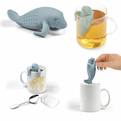 MANATEA Silicone Tea Leaf Strainer Herbal Infuser Filter Diffuser New!