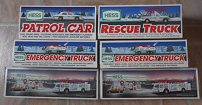 Hess Lot of Trucks Patrol Car Rescue Emergency Fire Truck