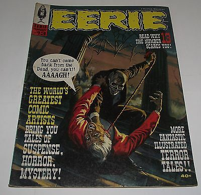 Rare Eerie #13 Horror Magazine Comic Issue Number 13