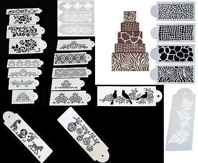 Cake Stencil Border Lace Regency Flower Victorian Damask - Various Designs