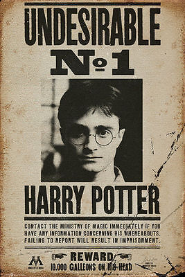HARRY POTTER WANTED - UNDESIRABLE NO 1 POSTER - 24x36 - 160053