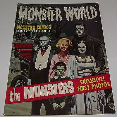 Warren Magazine  - Monster World #2 Rare Horror Magazine