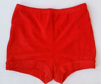 VTG--70's DOGGON'ITS HIGH WAISTED TERRY CLOTH SHORTS--Red--Size M