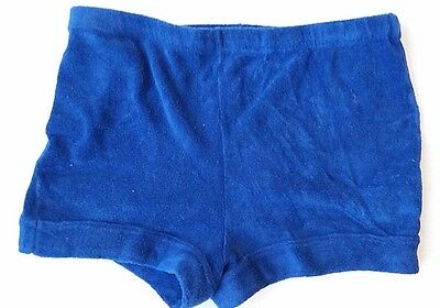 VTG--70's DOGGON'ITS HIGH WAISTED TERRY CLOTH SHORTS--Blue--Size M/L