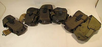 Vintage Military US Six Pouch Uniform Ammo Belt