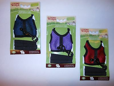 Living World Small Rat Hamster Gerbil Harness & Lead - Small 60865