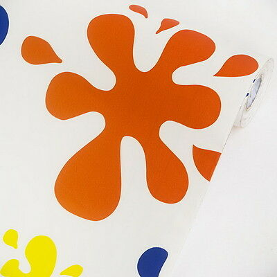 Color Splashes  - Vinyl Self-Adhesive Wallpaper Prepasted Wall stickers Wall Dec