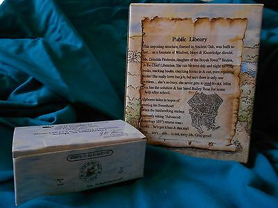 Boyds Bearly Built Villages Public Libeary #19006v PE w/accessory set