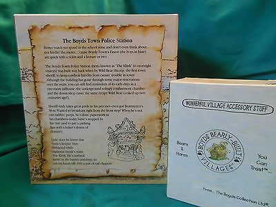 Boyds Bearly Built Villages The Boyds Town Police Station #19024v PE NIB