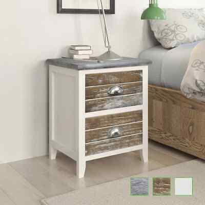 New Set of 2 Bedside Cabinet/Telephone Stand 2 Drawers Wood Furniture 3 Colours
