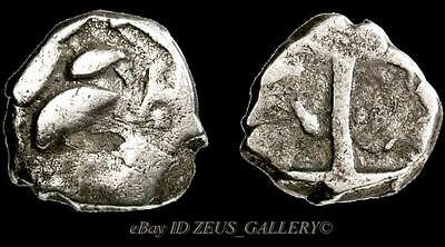 The CELTS, Ancient Greek Silver Coin Drachm VOLCAE TECTOSAGES Celtic Gaul 100 BC