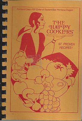Portland Or Vintage The Happy Cookers *oes *eastern Star Cook Book *local Ads