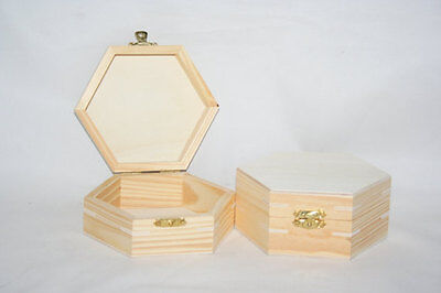 "Unfinished Pine Novelty Box with Hinged Lid 4-7/16"" Lx2-1/4"" T, Wood Box, Crafts"