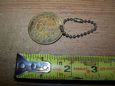 Tony Lama Boots Brass Token With Chain