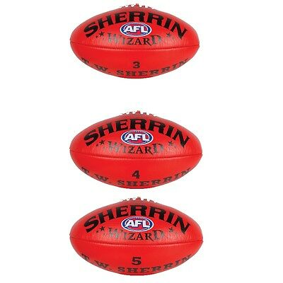 Sherrin Wizard Leather Red Football