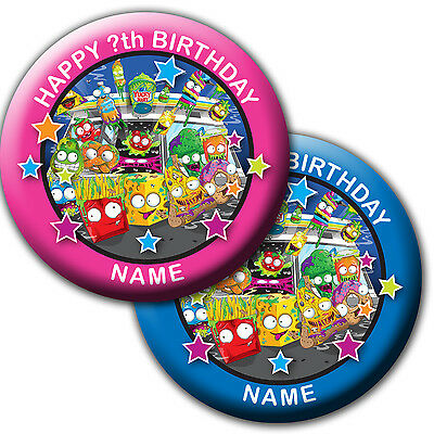 PERSONALISED GROSSERY GANG BIRTHDAY BADGE, MAGNET, MIRROR 58MM or 77MM