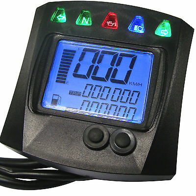 Digital Tacho Tachometer Fuel Gauge Odometer Quad Motorcycle Motorbike Scooter