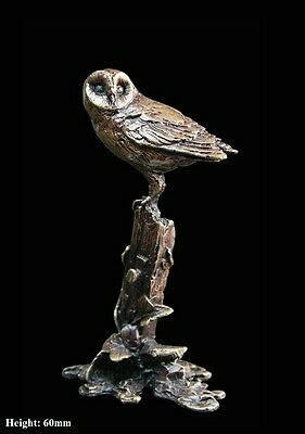 Barn Owl Solid Bronze Foundry Cast Detailed Sculpture Butler & Peach [2023]