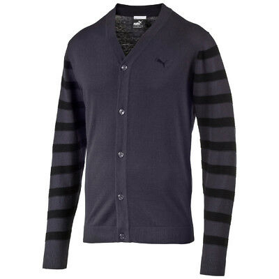 Puma Golf Sport Lux Cardigan Neck Sweater Pullunder Jacke graphite-black
