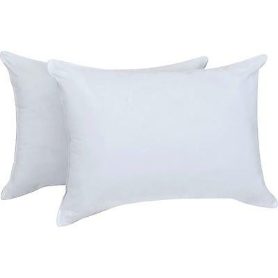 "Luxury Soft Duck Feather & Down Twin Pillows Pair 18"" x 28"" (46cm x 71cm) White"