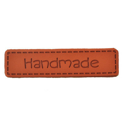 Hand Made Labels PU Leather Tags On Clothes Garment Labels For Jeans Bags Shoes