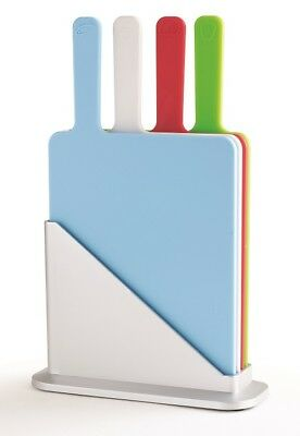 Chef's Companion Mini Index Chopping Board Set of 4 with Large Handles & Stand