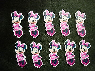 Cake Decoration Plastic Push-on Figures Birthday Characters x10 - MINNIE MOUSE