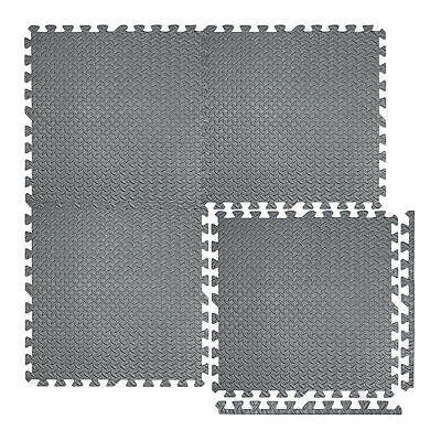 12-96pc Eva Interlocking Foam Mat Play Mat Garage Gym Home Flooring Tiles Carpet