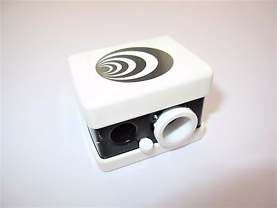 PRECISION Made Dual Size COSMETIC WHITE & BLACK PENCIL SHARPENER Made in GERMANY