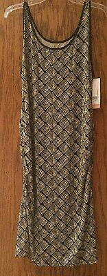 Sleeveless Black and Tan Maternity Dress Size Large