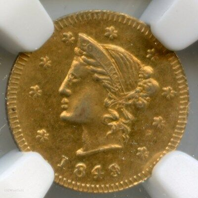 1849 Canada ONE British Columbia Gold G&L 332 / NGC MS63