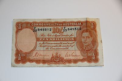 AUSTRALIA Commonwealth of Australia 1939 10 Shillings Fine P-25a WWII