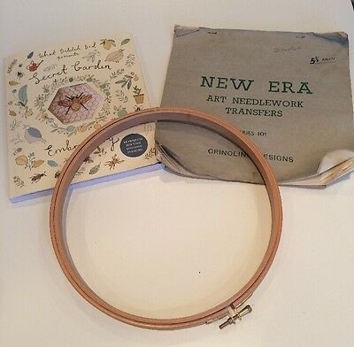 Wooden Cross Stitch Circle/Embroidery Hoop Bundle