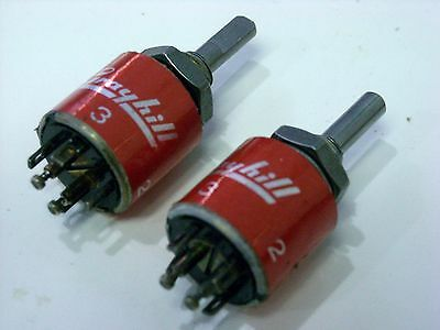 Grayhill 2-pole / 2-position Non-shorting Rotary Switch (NOS) - Quantity 2