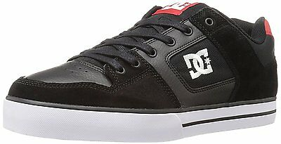 DC Mens Pure Skateboarding Shoe, Black/Athletic Red, 11 M US