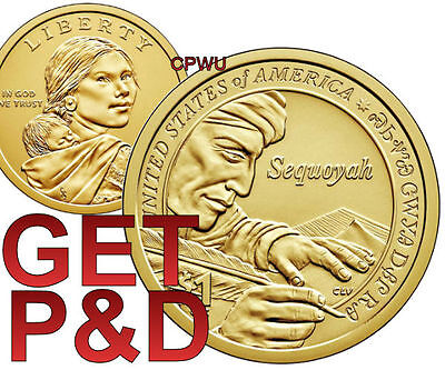2017 P&d Sacagawea Native American Dollars Set From Uncirculated Mint Rolls