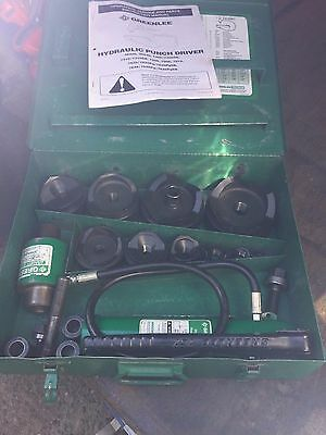 """Greenlee Hydraulic knock out punch set to 4""""  model # 7310"""